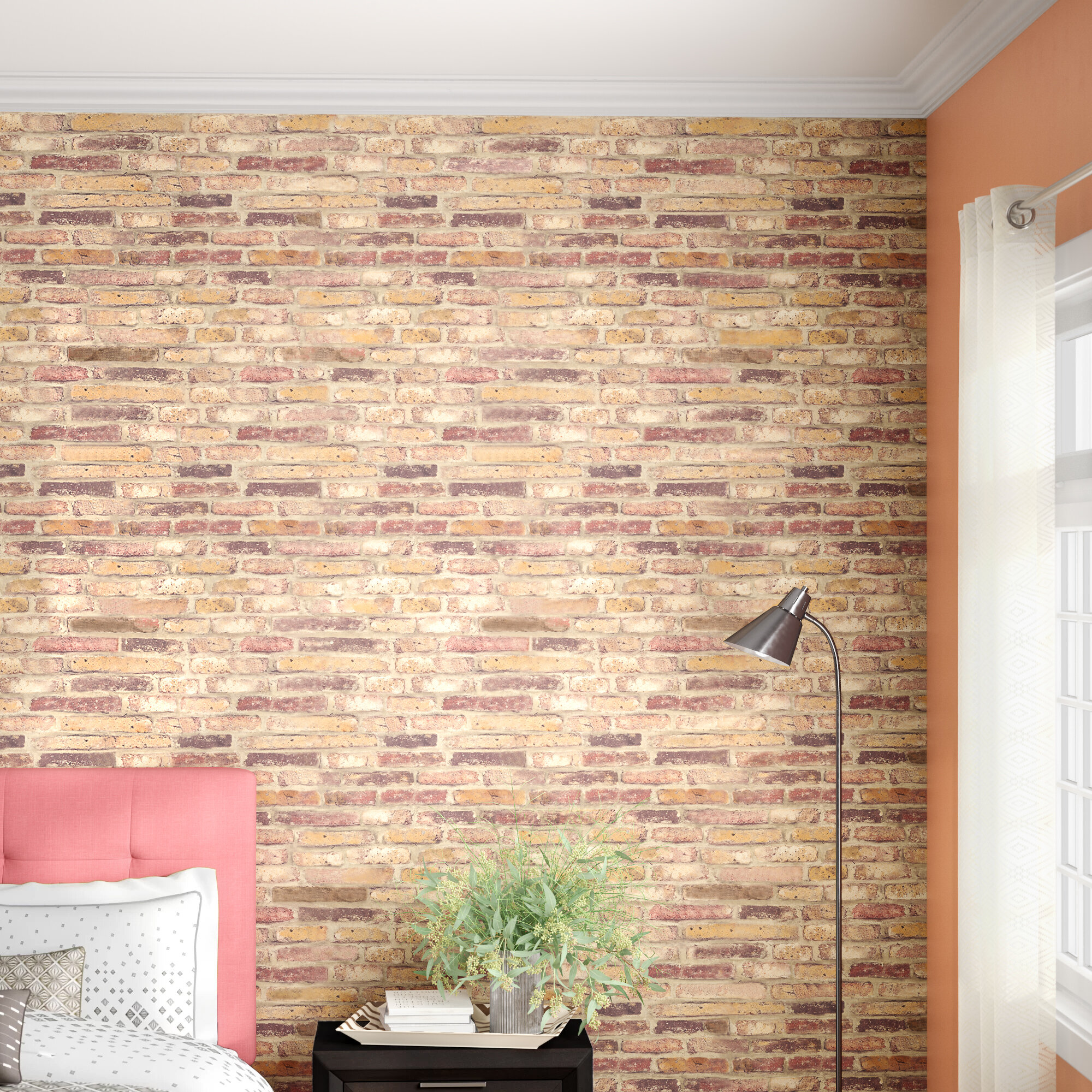Ebern Designs Tatum 18 L X 20 5 W Peel And Stick Wallpaper Roll Reviews Wayfair
