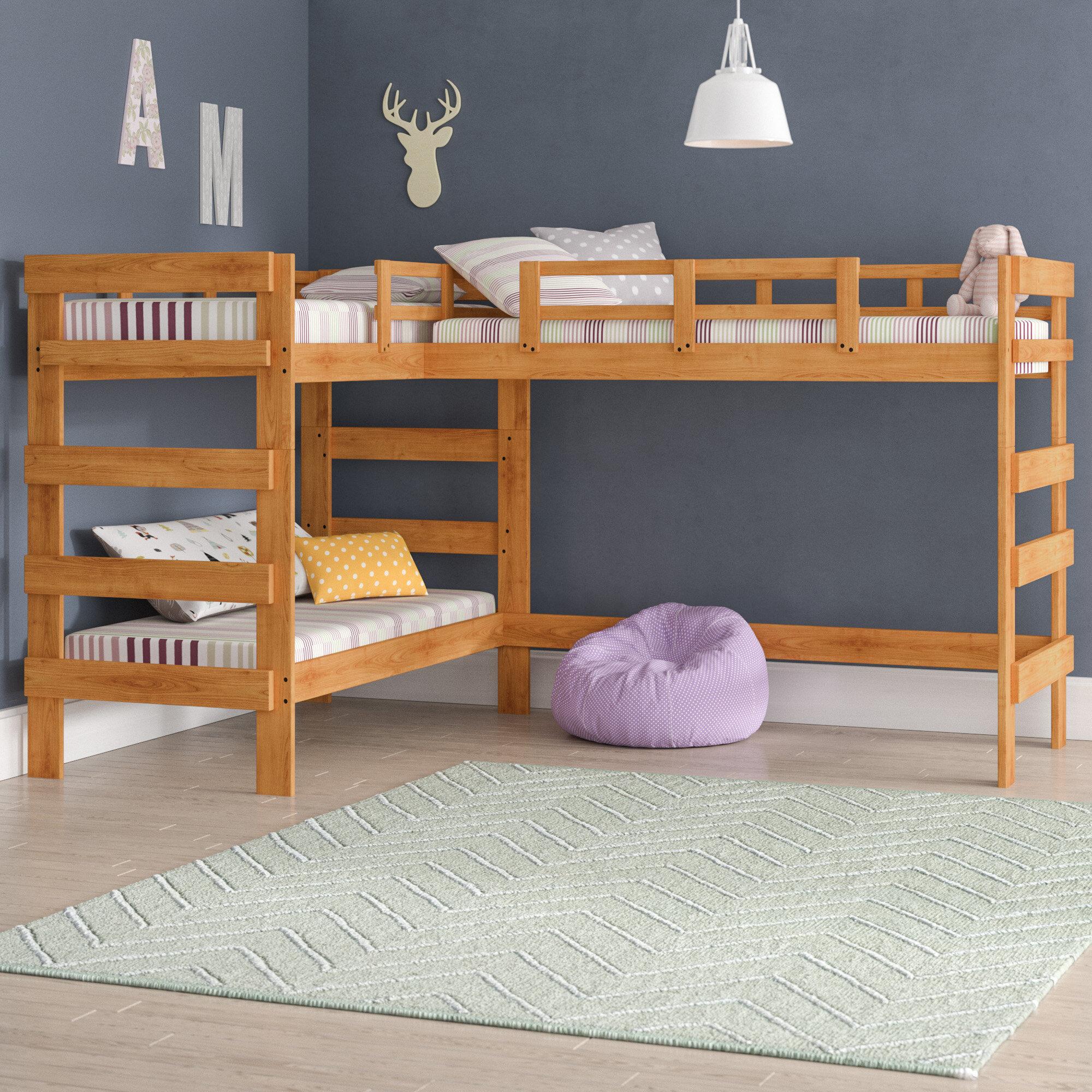 Viv Rae Deondre Twin L Shaped Triple Bunk Bed Wayfair