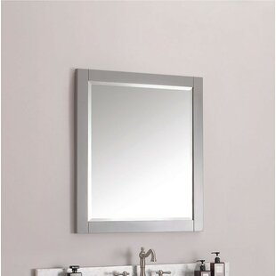 Poyen 28 Rectangle Beveled Wall Mirror by Charlton Home