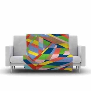 Price comparison Bruce Stanfield Layers #19 Multicolor Digital Fleece Blanket ByEast Urban Home