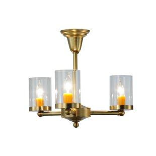 Meyda Tiffany Bakersfield 3-Light Semi Flush Mount