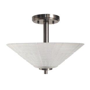 Springdale Lighting Houston Crystal 1-Light Semi Flush Mount