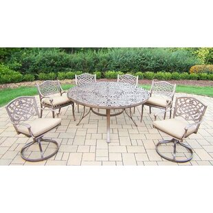 oakland living victoria 9 piece dining set with cushions usa