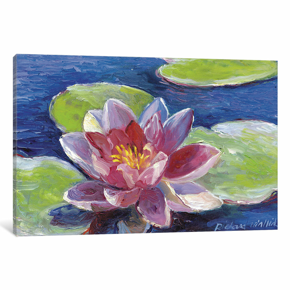 Red Barrel Studio Lily Pad Flowers Painting Print On Wrapped Canvas