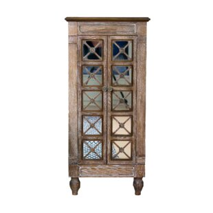 Bungalow Rose Schulenburg Free Standing Jewelry Armoire with Mirror