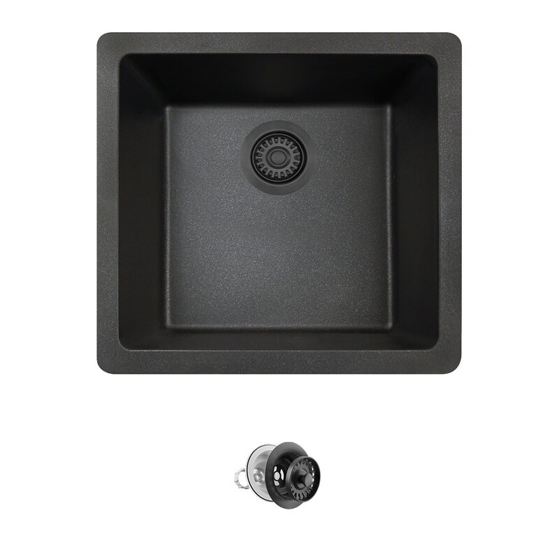 Granite Composite Undermount Kitchen Sinks Granite composite 18 x 17 undermount kitchen sink with strainer granite composite 18 x 17 undermount kitchen sink with strainer workwithnaturefo