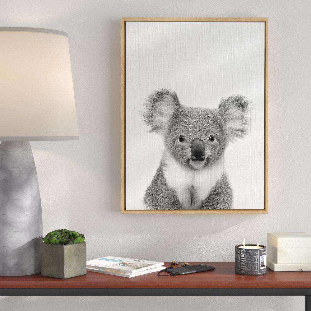 Ivy Bronx Koala Bear Framed Photographic Print On Canvas Wayfair