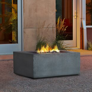 Baltic Concrete Natural Gas/Propane Fire Pit Table by Real Flame Modern
