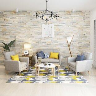 Cavitt Mid Century 2 Piece Living Room Set