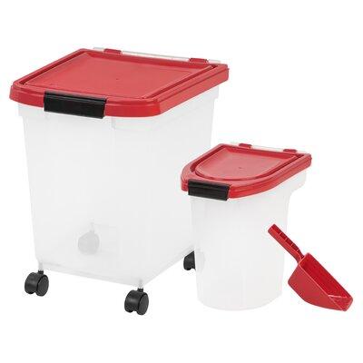 Milagros 4 Piece Airtight Pet Food Storage Container Tucker Murphy Pet