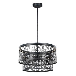 Comparison Veer 2-Light Outdoor Pendant By Bungalow Rose