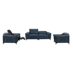 Morelock Modern 3 Piece Reclining Living Room Set