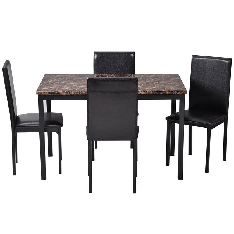 red barrel studio® 5pcs dining set kitchen table set