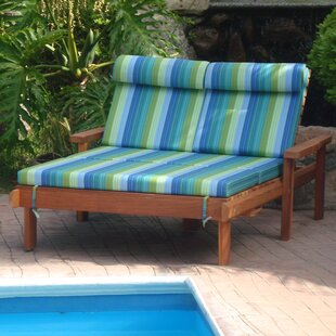 Rosecliff Heights Gerome Wood Double Chaise Lounge
