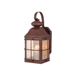 Comparison Downie 1-Light Outdoor Wall Lantern By Breakwater Bay