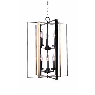 Wrought Studio Baldwin 6-Light Lantern Chandelier