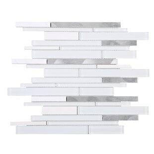 Slender Random Sized Mixed Material Tile in White