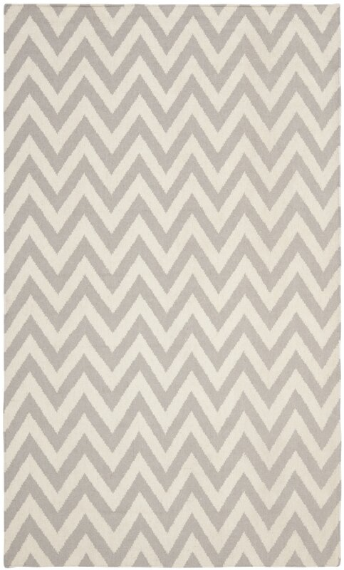 safavieh teppich dhurrie aus wolle in grau elfenbein bewertungen. Black Bedroom Furniture Sets. Home Design Ideas