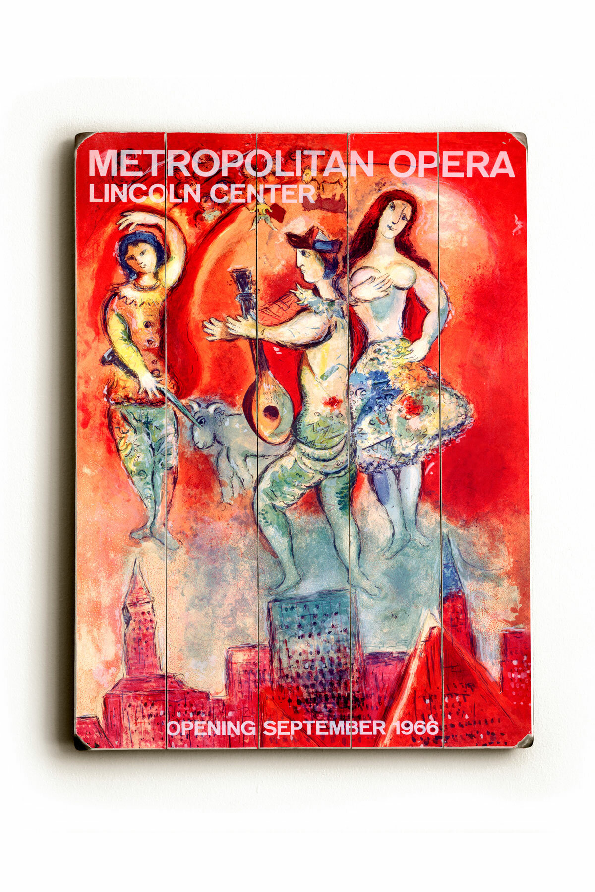 Vault W Artwork Metropolitan Opera Planked By Marc Chagall Unframed Advertisement Print On Wood Wayfair