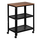 Souder Kitchen Cart with Solid Wood Top by 17 Stories