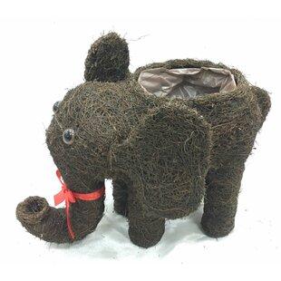 Immingham Brushwood Elephant Rattan Statue Planter Image