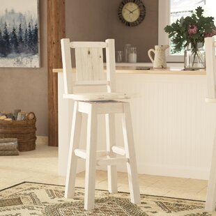 Buy clear Abella Pine 30 Swivel Barstool by Loon Peak