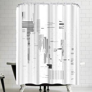 Ikonolexi Modern Minimalist Shower Curtain by East Urban Home