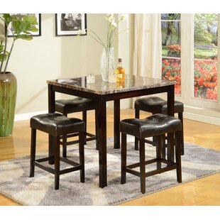 Octavia 5 Piece Counter Height Dining Set Red Barrel Studio