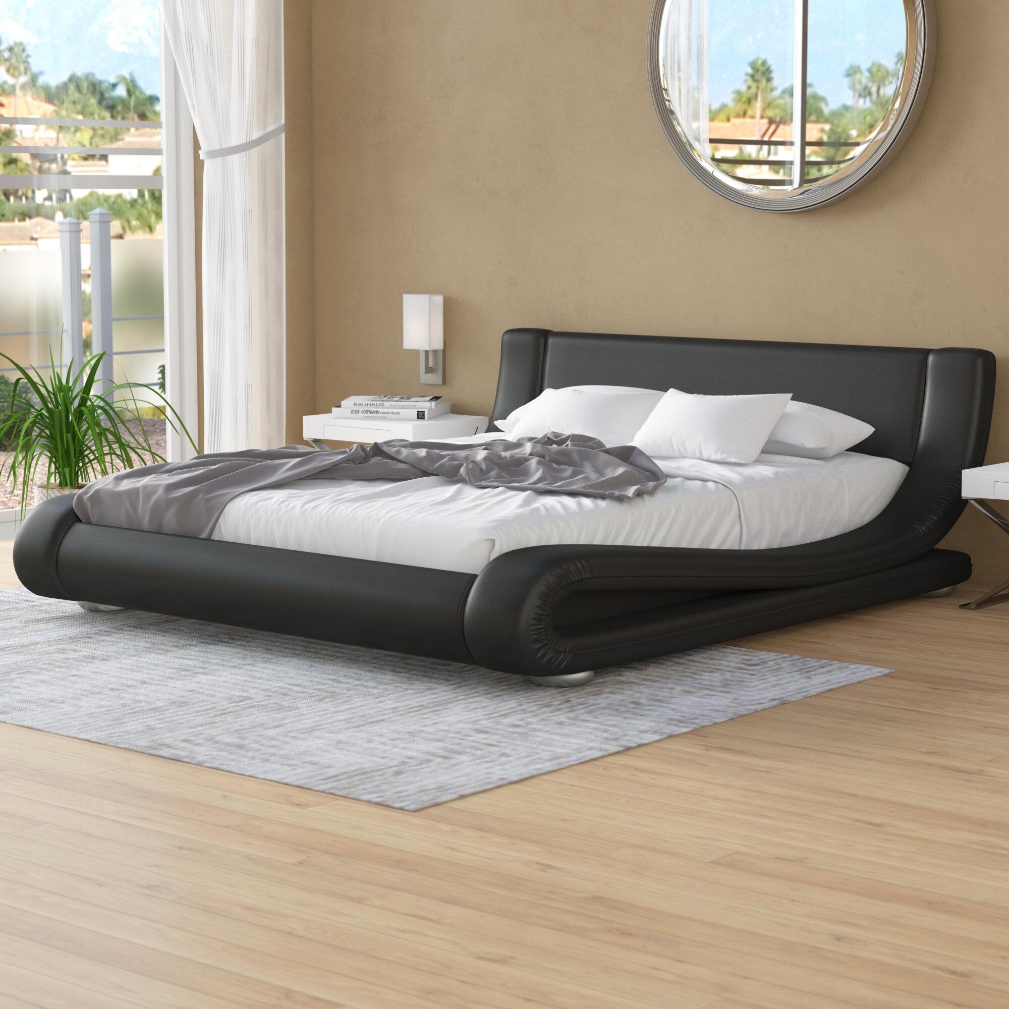 Brayden Studio Albricus Upholstered Low Profile Platform Bed Reviews Wayfair Ca