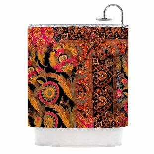 'Global Patchwork' Digital Single Shower Curtain