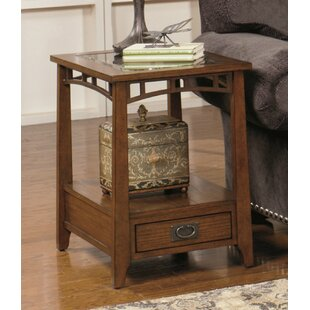 Best Reviews Landrienne Rectangular End Table by Loon Peak