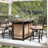 Carleton 5 Piece Bar Height Dining Set with Cushions