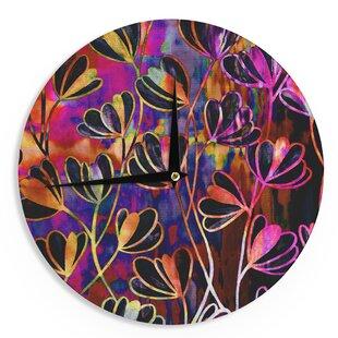 Ebi Emporium 'Efflorescence - Deep Jewel' 12 Wall Clock by East Urban Home