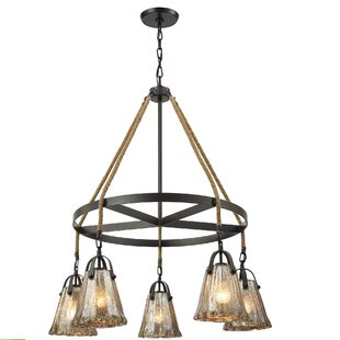 Bungalow Rose Marjane 5-Light Shaded Chandelier