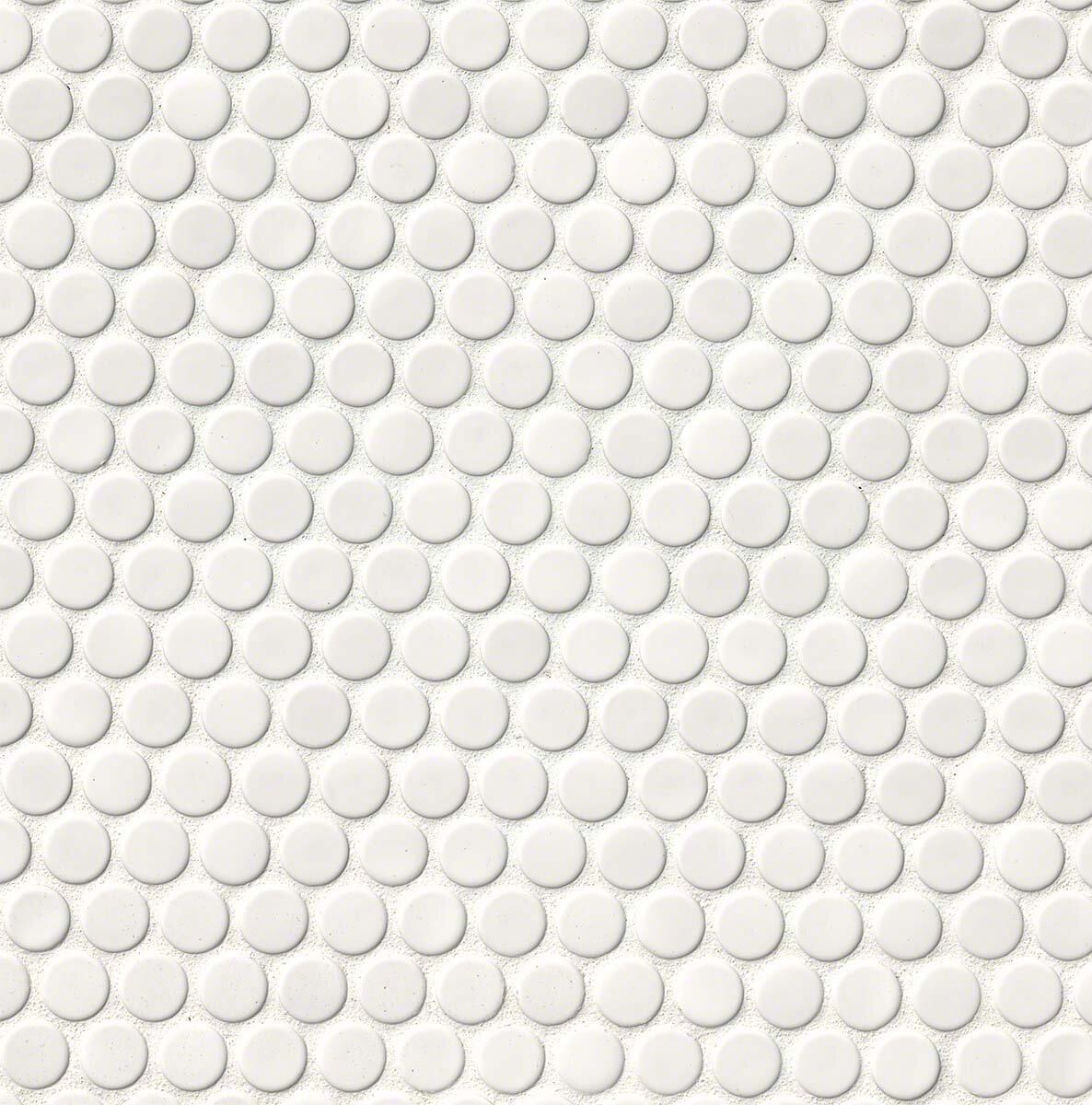 MSI Penny Round Porcelain Mosaic Tile In Glossy White Reviews
