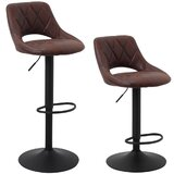 Basham Swivel Adjustable Height Bar Stool (Set of 2) by Williston Forge