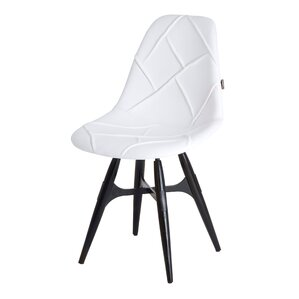 ZigZag Genuine Leather Upholstered Dining Chair by Modern Chairs USA