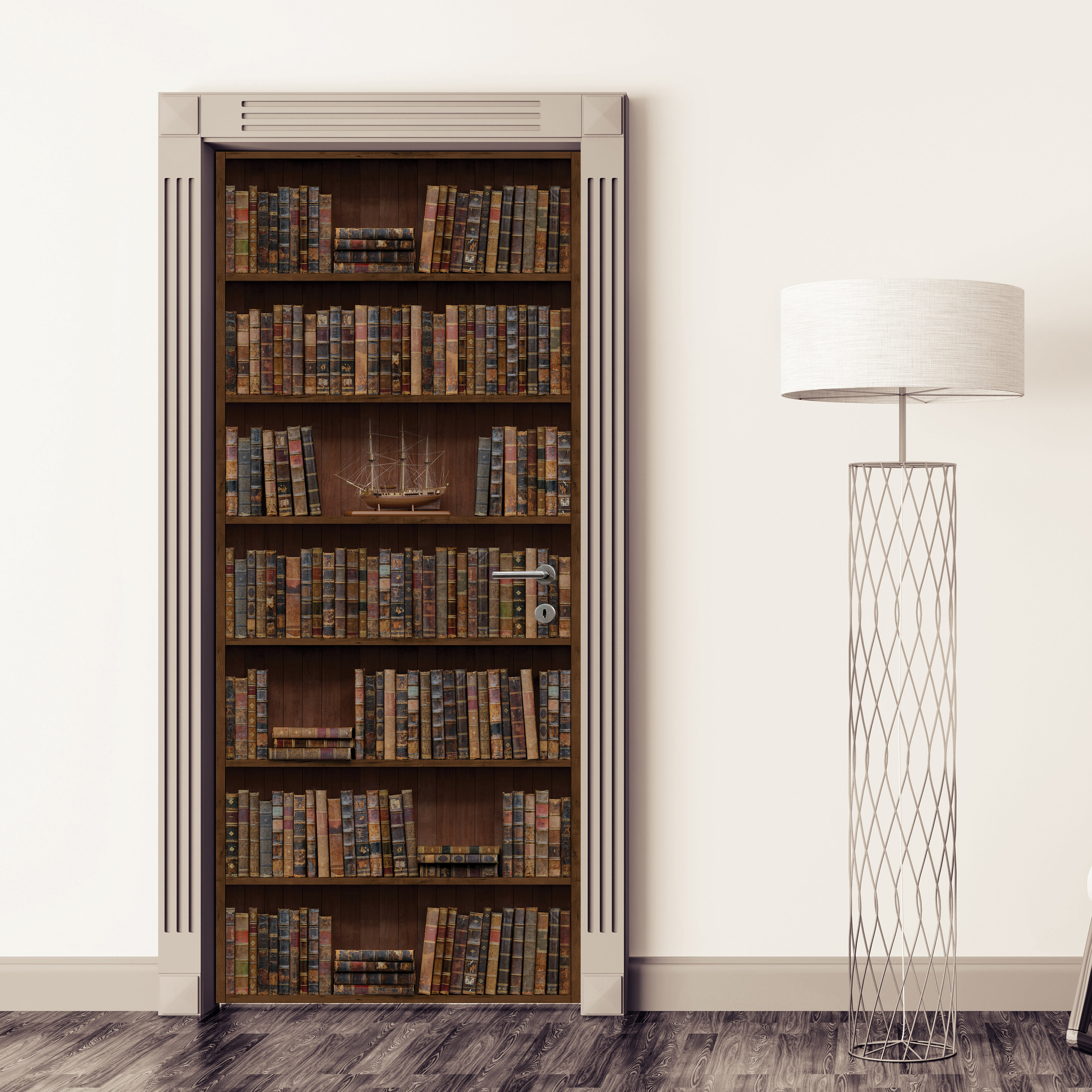Winston Porter Bookshelf Door Decal Reviews Wayfair