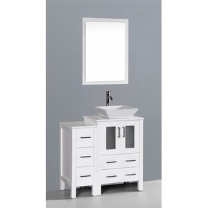 Netto 36 Single Bathroom Vanity Set with Mirror