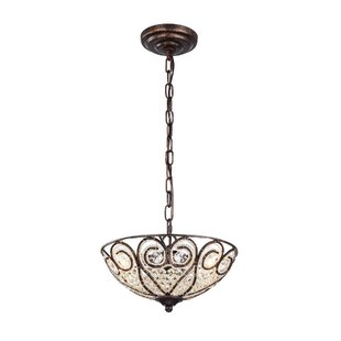 Gentle 3-Light Bowl Pendant by Astoria Grand