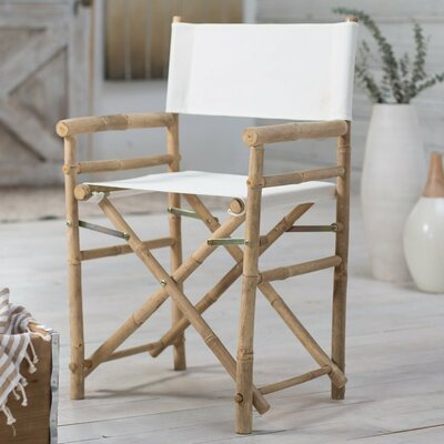 Jolicia Hand Crafted Outdoor / Indoor Bamboo Director Chair Beachcrest Home Color: Bone