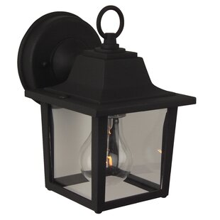 Great Price Overbey 1-Light Outdoor Wall Lantern By Charlton Home