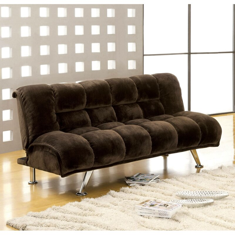 Latitude Run Lozko Twin Tufted Back Convertible Sofa Wayfair Ca