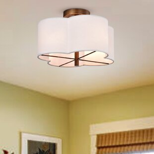 Joel 4-Light Semi Flush Mount by George Oliver