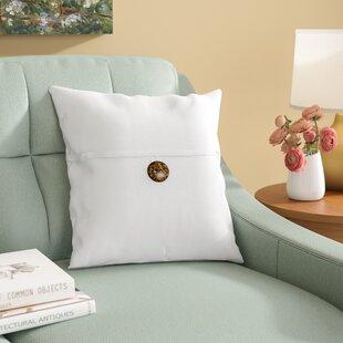 Nicholls Button Throw Pillow