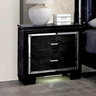 Ibrahim 2 Drawer Nightstand