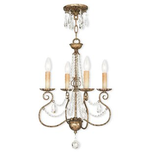 Astoria Grand Charley 4-Light Candle Style Chandelier
