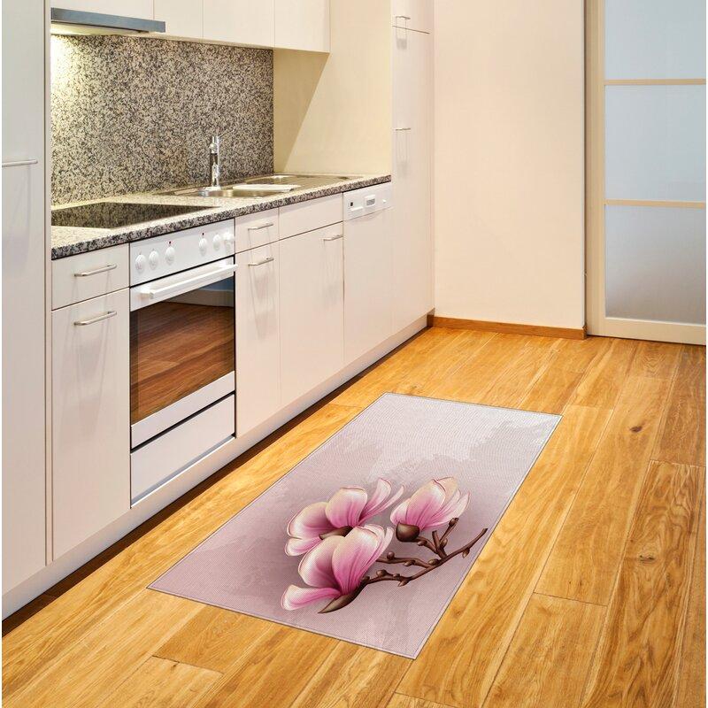 Ebern Designs Granby Flatweave Pink