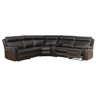 Winter Reclining Sectional With Console by Darby Home Co 2019 Coupon