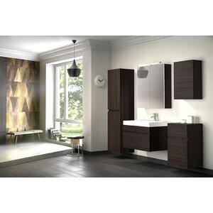 bad11® 70 cm Wandmontierter Waschtisch Pelagia mit Spiegel und Armatur